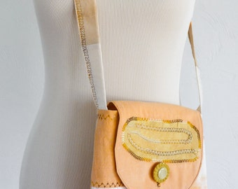 Patchwork Shoulder Bag - Hand Dyed - Eco Dyed - Boho Bag - Hippie Bag - Eco Friendly Bag - Naturally Dyed - One of a Kind - Festival Bag