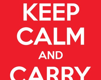 Keep Calm and Carry On Poster Clip Art Clipart PNG & Vector EPS, AI Design Elements Instant Download - Crown, Retro, Hipster
