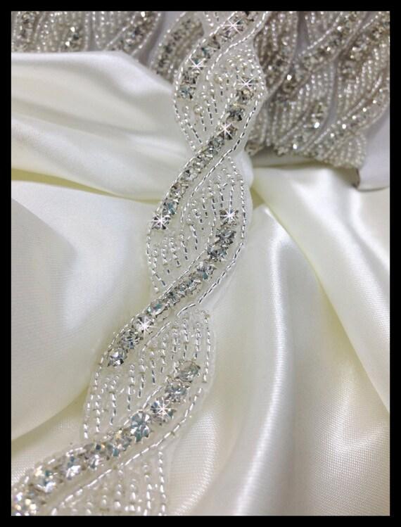 1 yards Iron/sew on crystal trim #0124