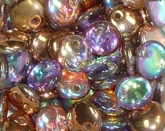 Lentil Beads - #1 Crystal Copper- 6mm 10 grams