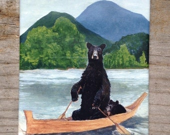 Bears in Boat Magnet