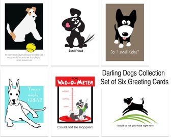 Darling Dogs Greeting Card Set