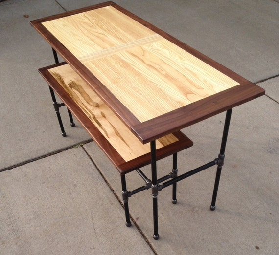 """The """"Study"""" Workstation, office, or eatery table with full bench"""