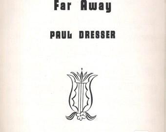 1954 On The Banks Of The Wabash Far Away (Vintage Sheet Music) Lyrics Piano Chords