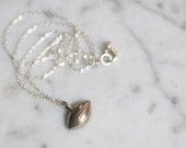 Silver Toned Football Charm Necklace