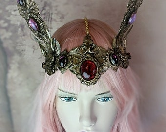 SUPER SALE Scarlet Rabbit Decadent Headdress was 1,229.00