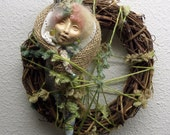 Dream Catcher, Forest Spirit, Assemblage art doll, Griselda Tello