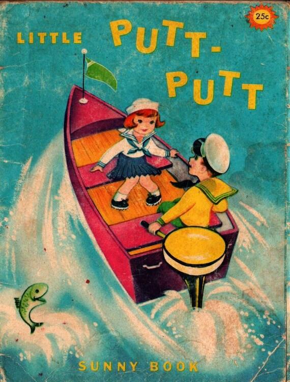 Little Putt-Putt a Sunny Book - Francis Kirn - 1968 - Vintage Kids Book