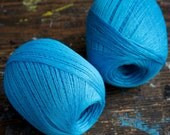 Linen yarn thread -- one ball - turquoise -- 3-ply