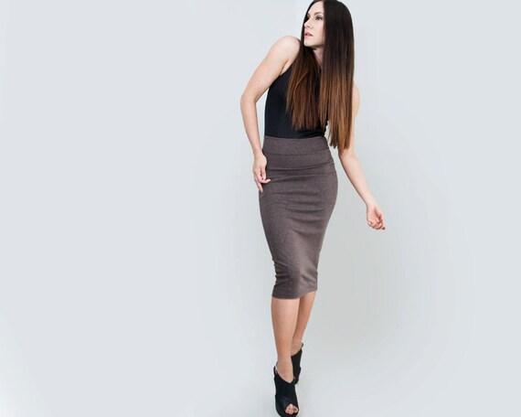 high waist pencil skirt below the knee high waisted skirts