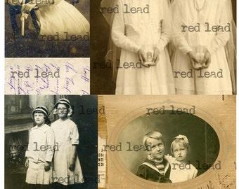 "Digital Vintage Photos Collage Sheet - 8-1/2"" x 11"" - Ancestors 15"