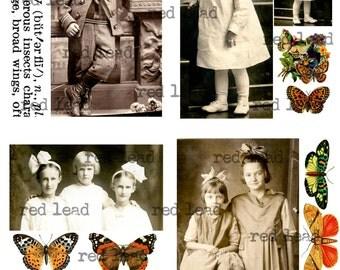 "Digital Vintage Photos Collage Sheet - 8-1/2"" x 11"" - Ancestors 85"