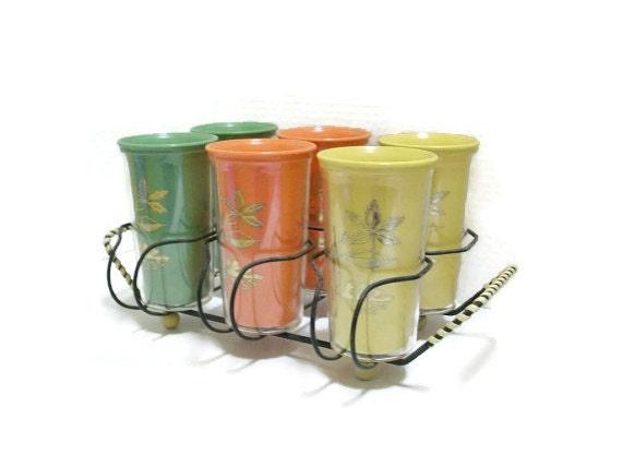 plastic vintage drinking glasses not