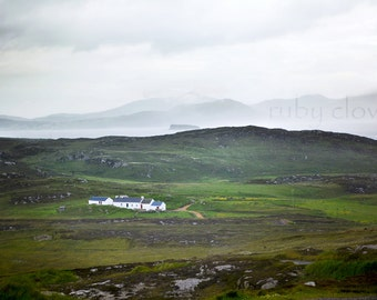 Malin Head, Co. Donegal, IRELAND Photo, Foggy Landscape, Misty Mountains, Inishowen, White Cottage,Red Door, Irish Sea,Ancient Land, Vikings