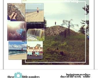 Instagram Overlays - Days of the Week