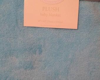 Personalized Amazing Aqua colored plush baby blanket