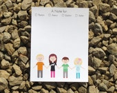 Kids Personalized Stationery - Customize Kids Illustrated - Notecards and Notepads