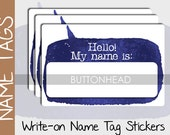 10 Blank Name Tags Stickers - Event Conference Name Tags - Attendee Meeting Registration