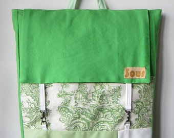 ON SALE Down The Road Apple Green and Floral Farm/Country Print Backpack with adjustable straps