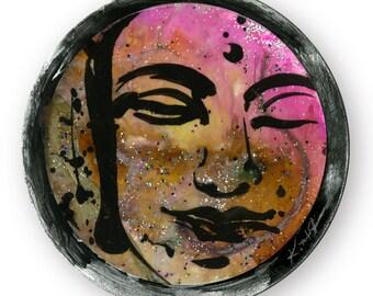 "Buddha Art, Painting, Zen, Mixed Media, Original Contemporary Modern Mixed Media art OOAK ""Buddha Love No. 13"" by Kathy Morton Stanion EBSQ"