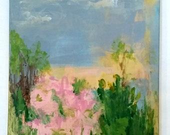 "Wild Roses original acrylic painting 16""x 20"""