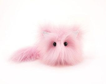 Stuffed Animal Stuffed Cat Baby the Light Pink Kitty Medium 5x8 Inches