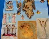 Antique Angel die cut lot