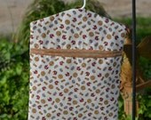 My Heart's On The Line Clothespin Bag,Clothes Peg Bag, Plastic Grocery Bag Holder or Storage Bag Made From Cute Laundry Theme Fabric
