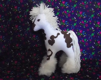 Horse, Drum, Small Stuffed Horse TOY to Play With!