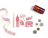 London Print / London Art / Greeting Card / Travel Card / Anytime Card / Hello Card / Red