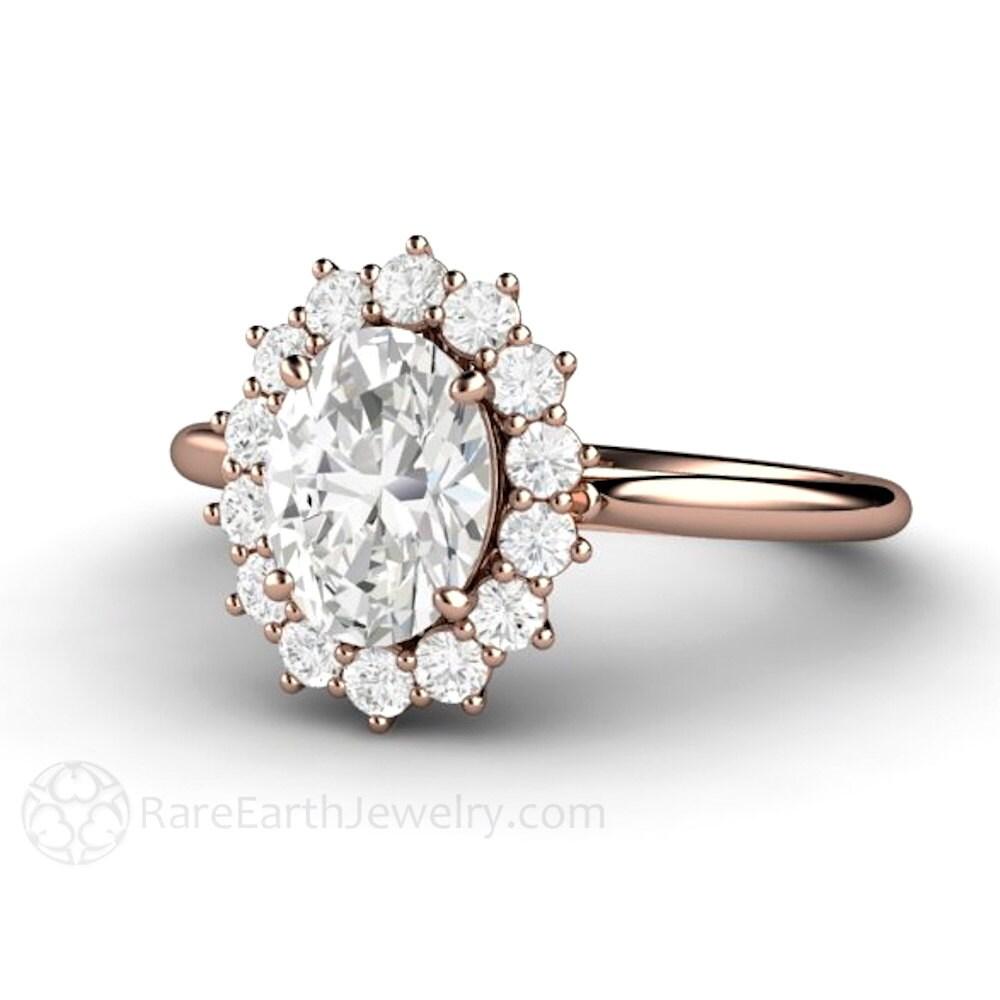 Moissanite Ring Conflict Free Diamond Alternative 🔎zoom