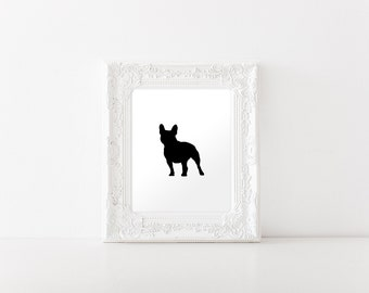 French Bulldog Art Print - French Bulldog Silhouette Print- INSTANT DIGITAL DOWNLOAD