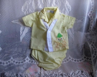 Vintage Yellow Baby Outfit by Mayfair