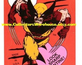Marvel  Comics Wolverine Valentine Sticker 90's style B