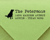 Dog Stamp, custom ADDRESS STAMP with proof from USA, Eco Friendly Self-Inking stamp, return address stamp, custom stamp, address stamp dog 2