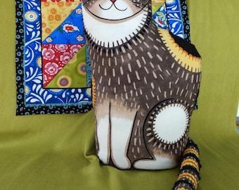 Mooshka Cat with her Quilt - OOAK