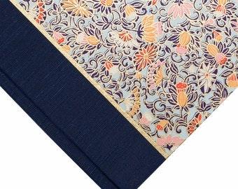 Photo Album Blue Floral-Wedding Photo Album, Guest Book ,Scrapbook, Art Journal, Photo Booth Album