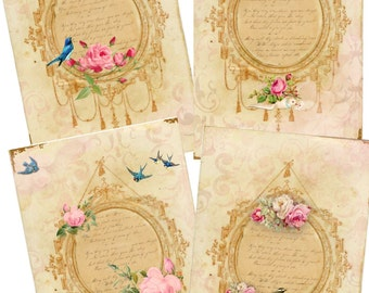 Instant Download - Aged Vintage French Tag Set - High quality - Printable Download  -