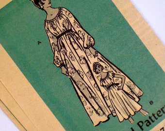 Vintage Boho Dress Pattern Marian Martin 4851 Bust 36 Uncut Easy to Sew Mail Order Pattern