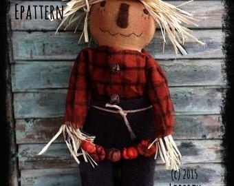 "Primitive Hanging Scarecrow Epattern ""Chadwick"""
