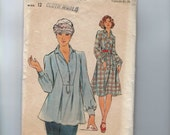 1970s Vintage Sewing Pattern Butterick 4395 Misses Dress and Top Size 12 Bust 34 70s  99