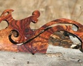 Hand Crafted Dragon Caribbean Rosewood Shuttles / Beaters for Card / Inkle Weaving