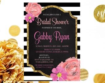 Bridal Shower Invitation // Customizable and PRINTABLE