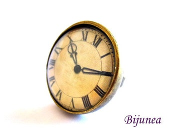 Watch ring - Romantic Watch ring - Vintage Watch ring - Brass Watch ring - Watch ring r773