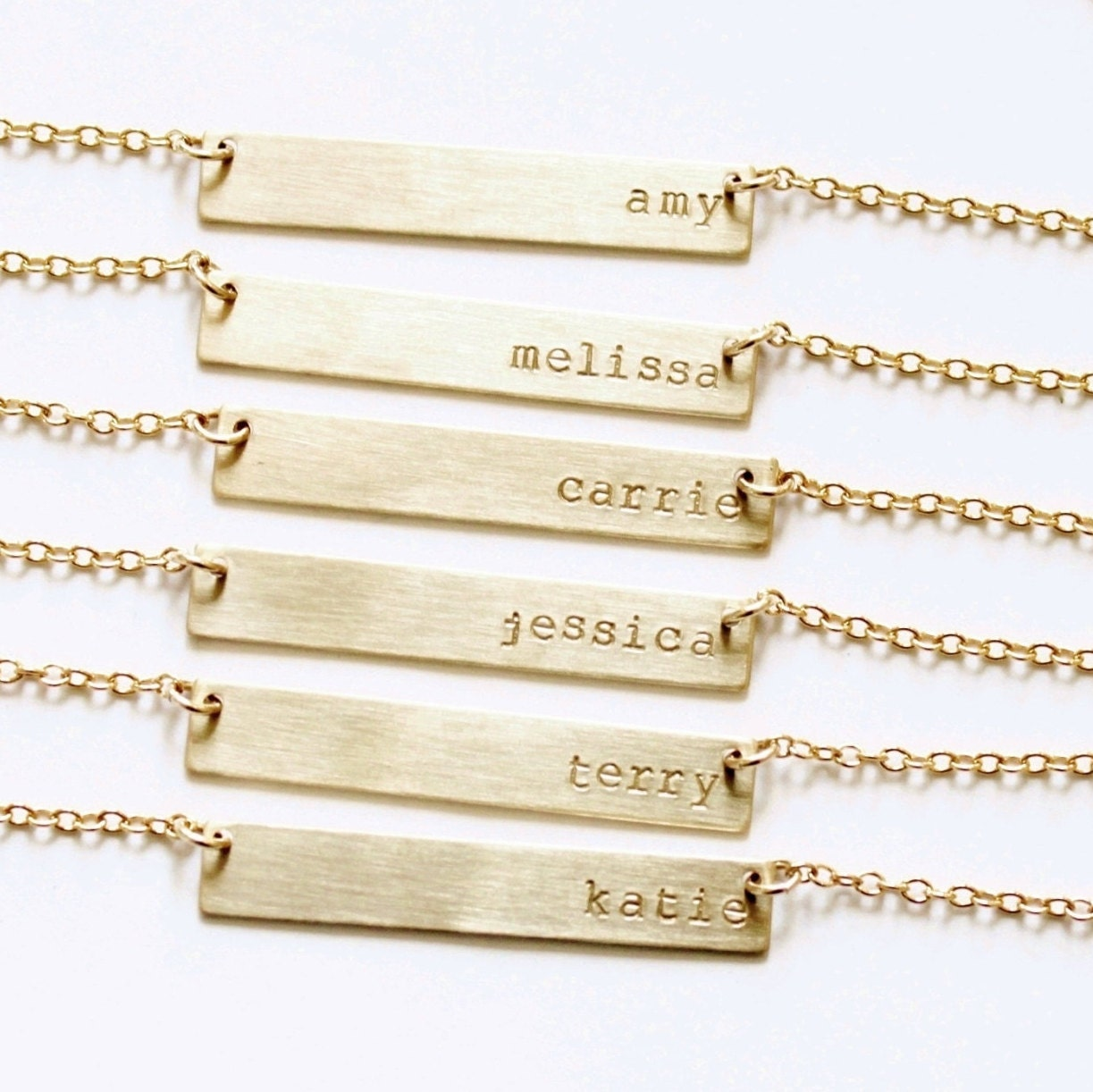 gold bar necklace customized name bar necklace by. Black Bedroom Furniture Sets. Home Design Ideas