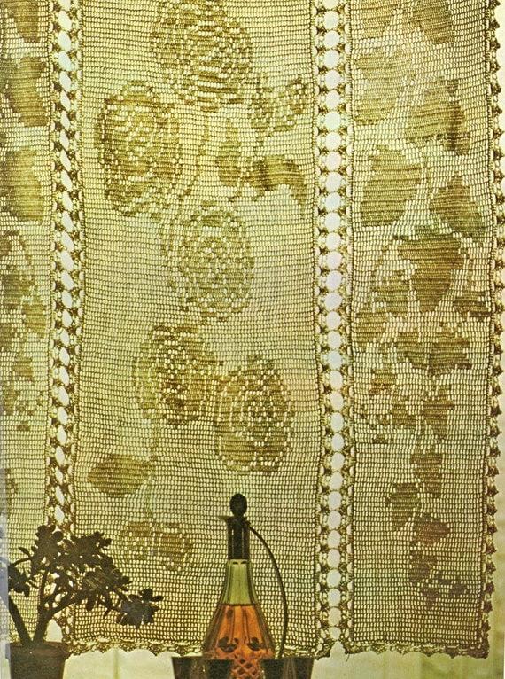 Filet Crochet Pattern, Crochet Curtain Pattern, Thread Crochet Pattern ...