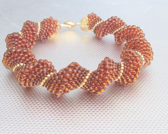 topaz bead bracelet cellini beaded jewelry seed bead beadwork