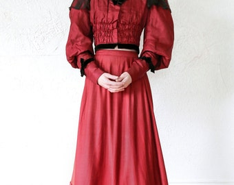 SALE- Victorian 3pc Set . Top, 2 Skirts