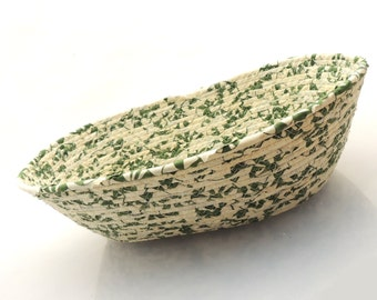 Large Green and Cream Basket