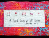 A Friend Loves  Art Quilt  PDF Pattern And Tutorial | Valentine's Day